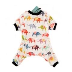 CuteBone Dog Pajamas Elephant Dog Apparel Dog Jumpsuit Pet Clothes Pajamas P03