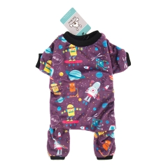 CuteBone Dog Pajamas Cute Print Dog Apparel Dog Jumpsuit Pet Clothes Pajamas P49