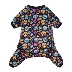 CuteBone Dog Pajamas Cute Print Dog Apparel Dog Jumpsuit Pet Clothes Pajamas P60