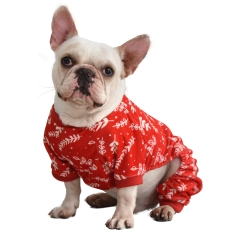 CuteBone Christmas leaf Dog Pajamas Pet Apparel For Christmas P18